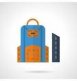 School bag and pencil box flat color icon vector image