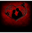 silhouettes of men and women with cupids vector image