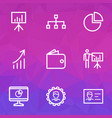 job outline icons set collection of manager vector image