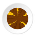 dangerous planet icon circle vector image
