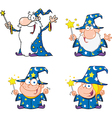 Cartoon wizards vector image vector image