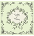Wedding Wreath Sketch vector image