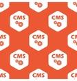 Orange hexagon CMS settings pattern vector image