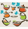 best food vector image vector image