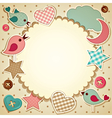 Scrapbook background vector image