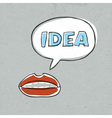 lips talk idea word vector image