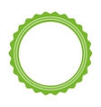 green seal stamp sticker vector image