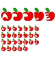 apple alphabet vector image