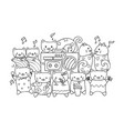 cute cats listen and dance to music vector image