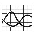 finance chart icon simple vector image