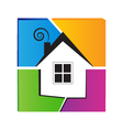 Home symbol logo vector image