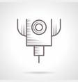 laser cut machine vintage icon vector image
