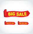 big sale set of signs vector image vector image