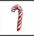 color sketch christmas caramel stick vector image
