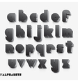 3D alphabet black color vector image