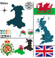 Wales map vector image