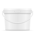 plastic bucket for paint 06 vector image vector image