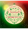 Christmas and Happy New Year greeting card vector image
