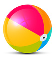 Colorful Beach Ball Isolated on White Background vector image