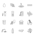Water Icons Line vector image