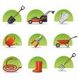 web icons garden tools vector image vector image