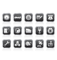 car parts and characteristics icons vector image vector image