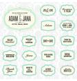 Vintage frame stickers vector image vector image