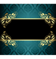 aquamarine card with pattern vector image