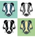 Badger Mascot Head Emblem vector image