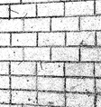 brick wall in grunge style vector image