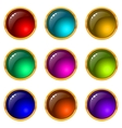 buttons with gems set round vector image