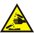corrosive warning sign vector image