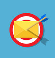 email letter with arrow on the target vector image