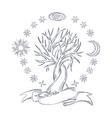 Magic sky tree vector image