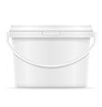 plastic bucket for paint 06 vector image
