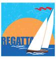 regatta vector image