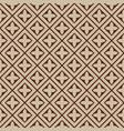 seamless - beige brown tile pattern vector image