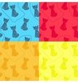 set of cat patterns vector image