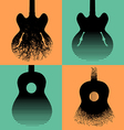 Four interesting guitar designs vector image vector image