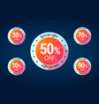special offer tags for shop sales vector image