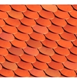 Seamless roof tiles background vector image
