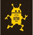 Vintage robot vector image vector image