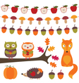 Autumn elements set vector image vector image