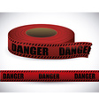 Red tape design vector image