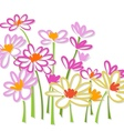 Freehand colorful flower sketch vector image