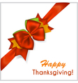 Thanksgiving red bow vector image