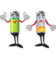 battery sand and happy vector image vector image