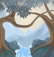 Trees scene vector image