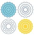 Set circle wave pattern vector image