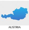 austria map in europe continent design vector image